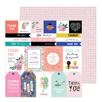 Jen Hadfield - Hey, Hello Collection - 12 x 12 Double Sided Paper - Thank You Sentiments