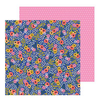 Pebbles - Hey, Hello Collection - 12 x 12 Double Sided Paper - Flower Patch