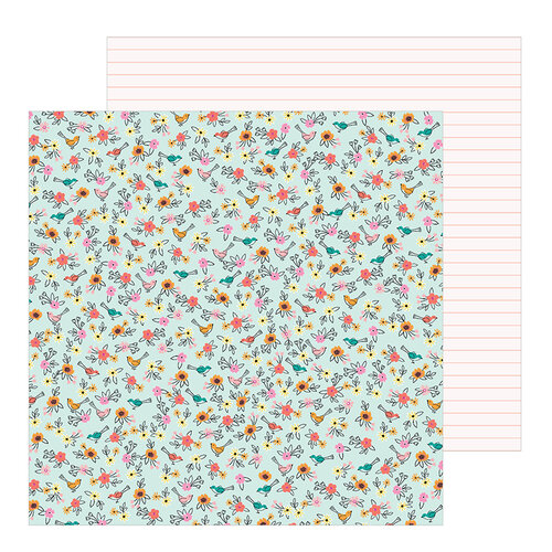 Pebbles - Hey, Hello Collection - 12 x 12 Double Sided Paper - Birdies