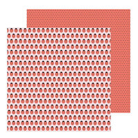 Pebbles - Hey, Hello Collection - 12 x 12 Double Sided Paper - Ladybugs
