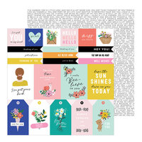 Jen Hadfield - Hey, Hello Collection - 12 x 12 Double Sided Paper - Thinking of You Sentiments