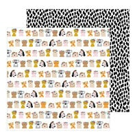 Pebbles - Hey, Hello Collection - 12 x 12 Double Sided Paper - Floral Friends