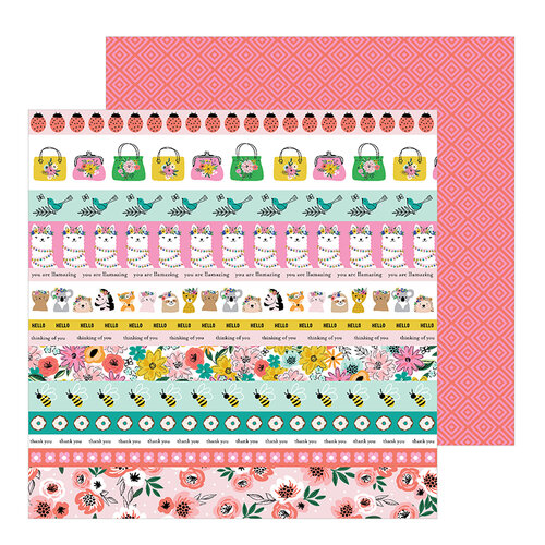 Jen Hadfield - Hey, Hello Collection - 12 x 12 Double Sided Paper - Sentiment Strips