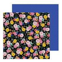 Pebbles - Hey, Hello Collection - 12 x 12 Double Sided Paper - Twilight