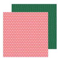 Pebbles - Hey, Hello Collection - 12 x 12 Double Sided Paper - Pink Posies