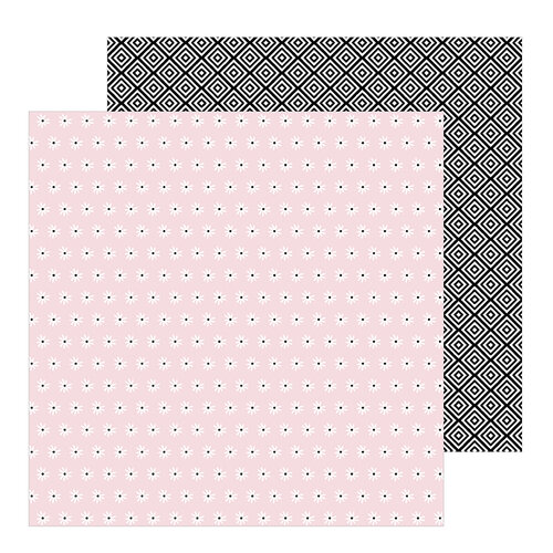Pebbles - Hey, Hello Collection - 12 x 12 Double Sided Paper - Loves Me