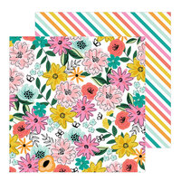 Jen Hadfield - Hey, Hello Collection - 12 x 12 Double Sided Paper - Happy Day