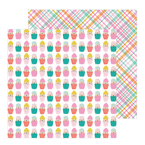 Pebbles - Hey, Hello Collection - 12 x 12 Double Sided Paper - Cupcake Surprise