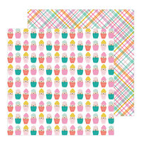 Jen Hadfield - Hey, Hello Collection - 12 x 12 Double Sided Paper - Cupcake Surprise