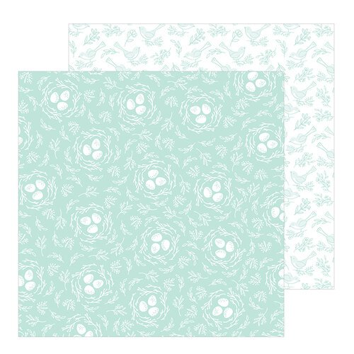 Pebbles - Hey, Hello Collection - 12 x 12 Double Sided Paper - Nesting