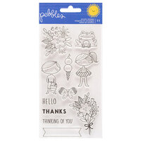Pebbles - Sun and Fun Collection - Clear Acrylic Stamps
