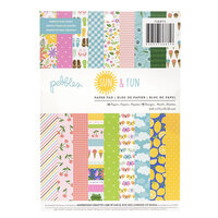 Pebbles - Sun and Fun Collection - 6 x 8 Paper Pad