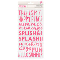 Pebbles - Sun and Fun Collection - Thickers - Phrase - Puffy