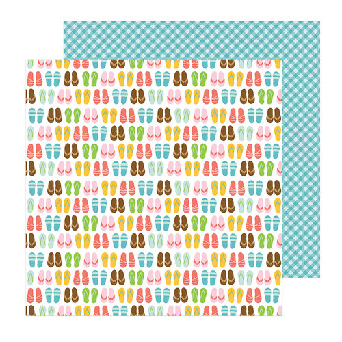 Pebbles - Sun and Fun Collection - 12 x 12 Double Sided Paper - Sand In My Toes