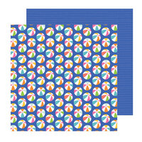 Pebbles - Sun and Fun Collection - 12 x 12 Double Sided Paper - Ball Toss