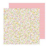 Pebbles - Sun and Fun Collection - 12 x 12 Double Sided Paper - Scattered Blossoms