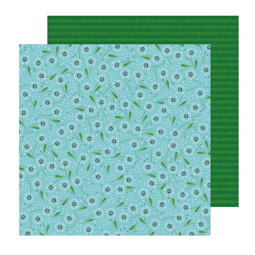 Pebbles - Sun and Fun Collection - 12 x 12 Double Sided Paper - Make A Wish