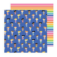 Pebbles - Sun and Fun Collection - 12 x 12 Double Sided Paper - Splish Splash