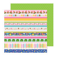 Pebbles - Sun and Fun Collection - 12 x 12 Double Sided Paper - Strips