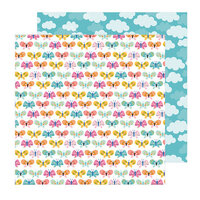 Pebbles - Sun and Fun Collection - 12 x 12 Double Sided Paper - Butterfly Love