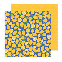 Pebbles - Sun and Fun Collection - 12 x 12 Double Sided Paper - Fresh Squeezed