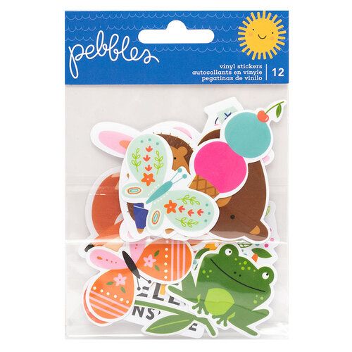 Pebbles - Sun and Fun Collection - Vinyl Waterproof Stickers