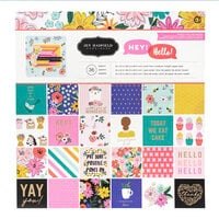 Pebbles - Hey, Hello Collection - 12 x 12 Paper Pad with Foil Accents