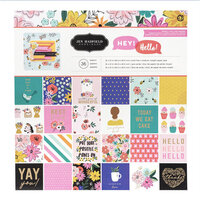 Jen Hadfield - Hey, Hello Collection - 12 x 12 Paper Pad with Foil Accents