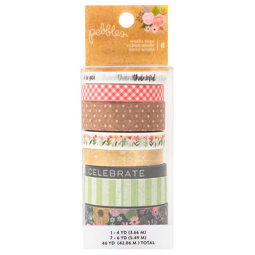 Pebbles - Lovely Moments Collection - Washi Tape with Foil Accents