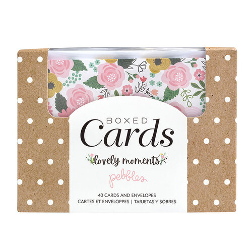 Pebbles - Lovely Moments Collection - Boxed Cards