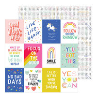 Pebbles - Live Life Happy Collection - 12 x 12 Double Sided Paper - Live Life Happy