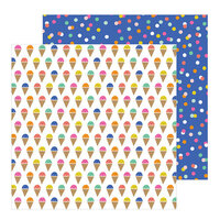 Pebbles - Live Life Happy Collection - 12 x 12 Double Sided Paper - Scoops