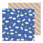 Pebbles - Live Life Happy Collection - 12 x 12 Double Sided Paper - Unicorn Dreams