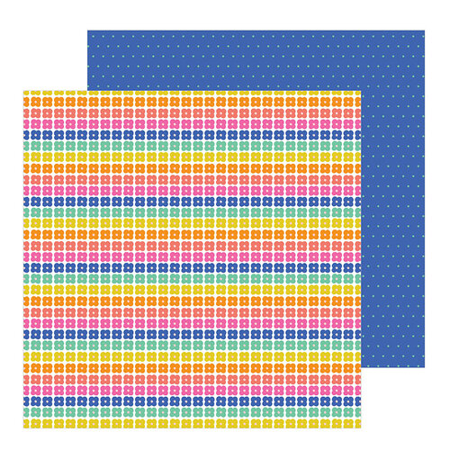 Pebbles - Live Life Happy Collection - 12 x 12 Double Sided Paper - Oh Happy Day