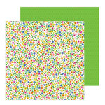 Pebbles - Live Life Happy Collection - 12 x 12 Double Sided Paper - Rainbow Blossoms