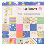 Pebbles - Live Life Happy Collection - 12 x 12 Paper Pad with Foil Accents