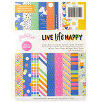 Pebbles - Live Life Happy Collection - 6 x 8 Paper Pad with Foil Accents