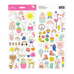 Pebbles - Live Life Happy Collection - 6 x 12 Cardstock Stickers with Foil Accents