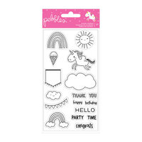 Pebbles - Live Life Happy Collection - Clear Acrylic Stamps