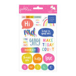 Pebbles - Live Life Happy Collection - Cardstock Sticker Book with Foil Accents