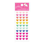 Pebbles - Live Life Happy Collection - Puffy Heart Stickers with Foil Accents