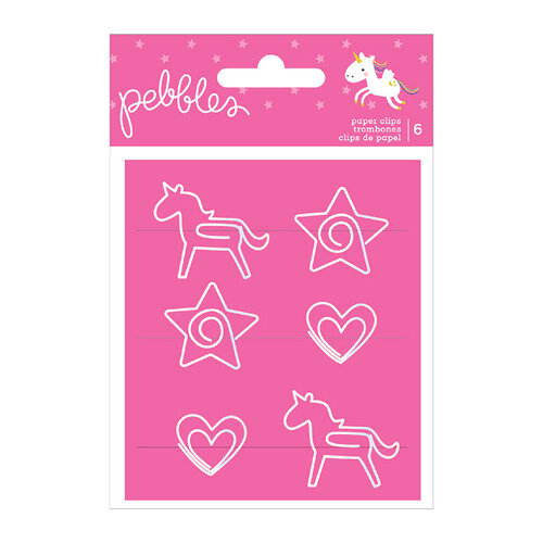 Pebbles - Live Life Happy Collection - Shaped Paperclips