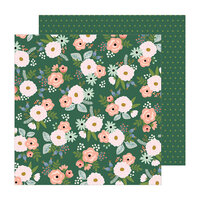 Pebbles - The Avenue Collection - 12 x 12 Double Sided Paper - Peony Pl.
