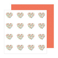 Pebbles - The Avenue Collection - 12 x 12 Double Sided Paper - Dahlia Dr.
