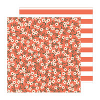 Pebbles - The Avenue Collection - 12 x 12 Double Sided Paper - Poppy Pl.
