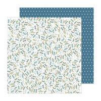 Pebbles - The Avenue Collection - 12 x 12 Double Sided Paper - Wildflower Wy.