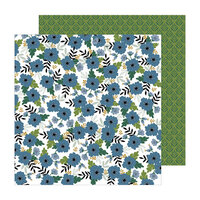 Pebbles - The Avenue Collection - 12 x 12 Double Sided Paper - Aster Ave.