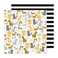 Pebbles - The Avenue Collection - 12 x 12 Double Sided Paper - Puppy Park