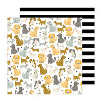 Jen Hadfield - The Avenue Collection - 12 x 12 Double Sided Paper - Puppy Park