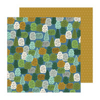 Jen Hadfield - The Avenue Collection - 12 x 12 Double Sided Paper - Wooded Wy.